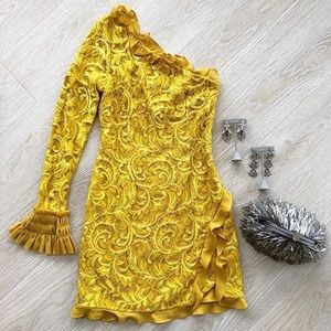 Yellow Alexis Cocktail Dress